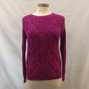Faded Glory Pink Cable Knit Sweater Small